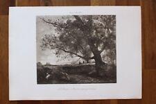 ✒ ca.1890 Camille COROT Les Berges d'Arcadie paysage antique