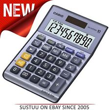 Casio MS100 Desk Calculator Solar Powered Currency Converter & VAT Large Display