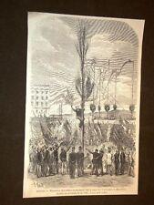 Barcellona nel 1869 Viene piantato l'Albero libertà Piazza Università Spagna