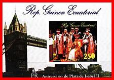 GUINEA EQUAT. 1975 QEII CORONATION imperf S/S  MNH TOWER BRIDGE, COSTUMES