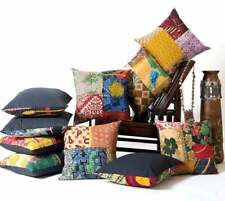 """10 PC Wholesale Indian Cotton Kantha Stitch Cushion Throw Pillow Cover 16"""""""