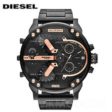 New Diesel DZ7312 Mr. Daddy 2.0 Black Ion-Plated Stainless Steel Men's Watch