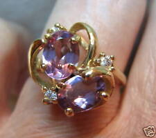 """10K Yellow Gold  2ct  Amethyst  Ring """"BRAND NEW""""  ***** MADE IN AMERICA***** USA"""