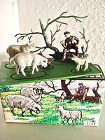 BRITAINS MINI SET shepherd & sheep 1002 *Mint In Box Vintage 1960's COMPLETE