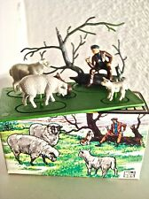 BRITAINS MINI SET shepherd & sheep 1002 *Mint In Box Vintage 1960's COMPLETE