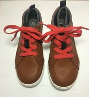 Brown Faux Leather Sneaker Boys Size 2 Cat And Jack Arlo