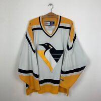 PITTSBURGH PENGUINS HOCKEY JERSEY CCM MEN'S NHL WHITE SIZE 2XL