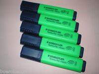 5x Staedtler Textsurfer classic grün 364-5 Textmarker Leuchtstift NEU
