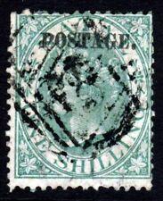 NATAL SOUTH AFRICA QV 1869 1s. Green Overpt POSTAGE Wmk Crown CC P.14  SG 56 VFU