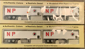 Con-Cor Northern Pacific 40' Dry Van Trailers - 2 sets of two white sides