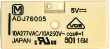 1 x Panasonic ADJ76005 DPNC PCB Mount Relay, Switch 2 x 10A @250V AC, 5V DC Coil