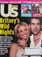 BRITNEY SPEARS  & COLIN FARRELL February 2003 US Magazine AMERICAN IDOL