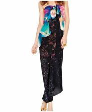 NEW GOTTEX Cosmic Petals Pareo Cover Up 100% Silk  One Size