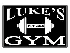 PERSONALIZED METAL SIGN YOUR NAME GYM SIGN CUSTOM SIGN DURABLE FULL COLOR