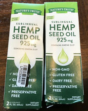 Nature's Truth Sublingual Hemp Seed Oil 925mg 2 Fl Oz EXP: 08/2022 LOT OF 2