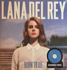 LANA DEL REY (LP) BORN TO DIE [LIMITED ED 2017 BLUE VINYL SEALED GATEFOLD *RARE]