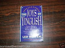 THE JOYS OF YINGLISH - SIGNED BY LEO ROSTEN - PAPERBACK BOOK 1992