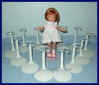 """12 White Kaiser Doll Stands for 8"""" SHIRLEY TEMPLE  9"""" Patsyette U.S.SHIPS FREE"""