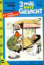 "Rarität - Magazin ""3mal kurz GELACHT"" Nr. 53, sexy Witze, Humor, Cartoons, Funny"