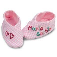 Babyschuhe Kariert Babyschühchen Schühchen für Babys rosa mit Namen Mädchen