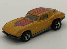 Vintage Mattel Hot Wheels Black Wall 1963 Gold Corvette Split Window HiRakers #2