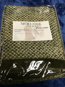 """Mohawk Home Luxurious Chenille Throw Blanket Basketweave Olive Green 50""""X 70"""""""