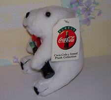 Coca Cola Polar Bear Holding A Coca Cola Bottle~Plush Stuffed Animal