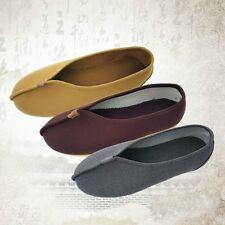 Unisex Casual Buddhist Monk Shaolin Meditation Flats Kung Fu Tai Chi Cloth Shoes
