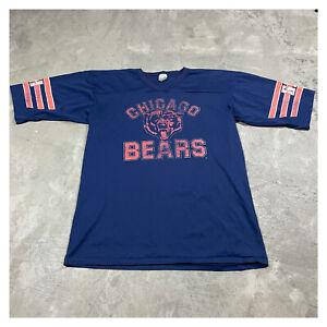 80s 90s VTG CHICAGO BEARS jersey t shirt 3/4 raglan sleeves XL XLT Paper Thin