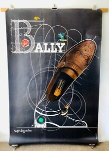Original Vintage BALLY Poster by Roger Bezombes 1980