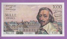 (Ref: F.151)  1000 FRANCS RICHELIEU 5/05/1955 (NEUF)  ETAT RARE