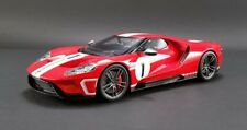 2018 Ford GT in Red w White Stripes #1 in 1:18 Scale by GT Spirit