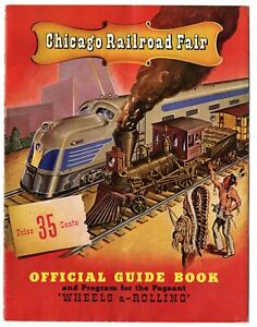 Chicago Railroad Fair Guide Book Program 1948 - 20 Pages - Softbound - 1st Year