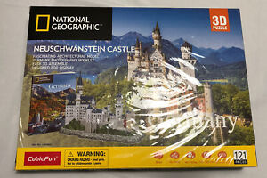 CubicFun 3D Puzzles National Geographic Booklet GERMANY Neuschwanstein Castle