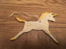 Handmade Clay Sparkly Gold Unicorn Christmas Decoration/Gift Tag