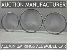 Toyota Starlet P8 1990-1996 Chrome Gauge Trim Dial Rings Polished Alloy New x3