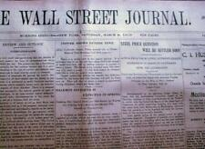 3 original 1919 WALL STREET JOURNAL newspapers during era of Post WW I Recession