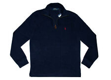 Polo Ralph Lauren Men's XXL 2xl 1/4 Zip Cotton Pullover Sweater Cruise Navy