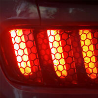 Car Rear Tail Light Honeycomb Stickers Taillight Lamp Cover Exterior Accessories