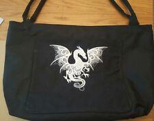 Ricamato Mystic Dragon. Tote/Shopping/Spiaggia Bag Borsa con tasca frontale LG