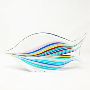 Livio Seguso signed Oggetti Glass Fish vintage 70's 80's