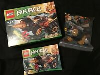 Lego Ninjago Cole's Earth Driller Foreuse 70502 Complet Personnages+Boite+Notice