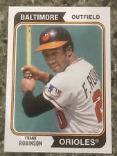 Frank Robinson Baltimore Orioles Topps 2020 Reprint Baseball Card