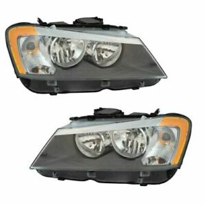 FITS FOR BMW X3 2011 2012 2013 2014 HEADLIGHT HALOGEN RIGHT & LEFT PAIR SET
