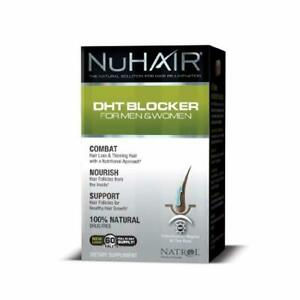 Nu Hair DHT Blocker Hair Regrowth Support Formula Tablets, 60-Count Bottle