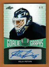 2016-17 , LEAF , MASKED MEN , FELIX POTVIN , GOALIE GRAPHS , AUTO , 6/8