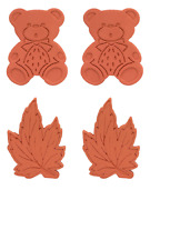 New! 4PK-MADE IN CANADA The Original Brown Sugar Saver-2-Bear and 2- Maple Leaf