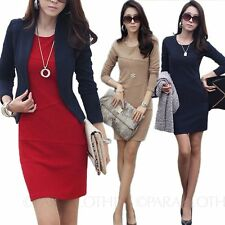 Women's Crew Neck Long Sleeve Business Wiggle, Pencil Dresses