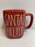 Rae Dunn Christmas By Magenta SANTA'S HELPER LL Farmhouse Red Holiday Mug