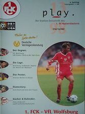Programm 1998/99 1. FC Kaiserslautern - VfL Wolfsburg